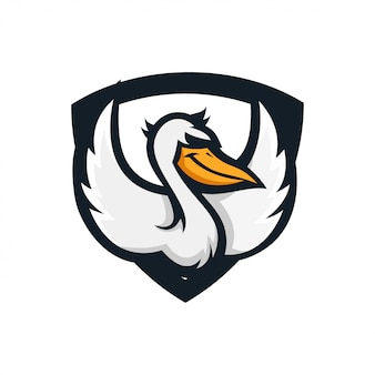 Uccello dell'ala di acqua dello scudo del pellicano
