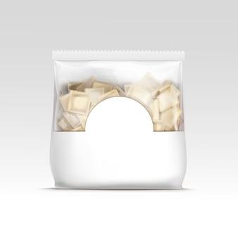 Confezione ravioli di gnocchi di carne pelmeni