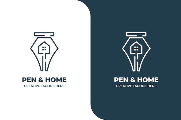 Pen house school document coffee monoline logo