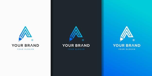 Penna lettera un logo di concetto