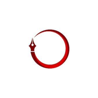 Penna logo modello studio legale società e simbolo scrittore