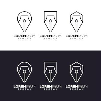 Disegno del logo del set di penne