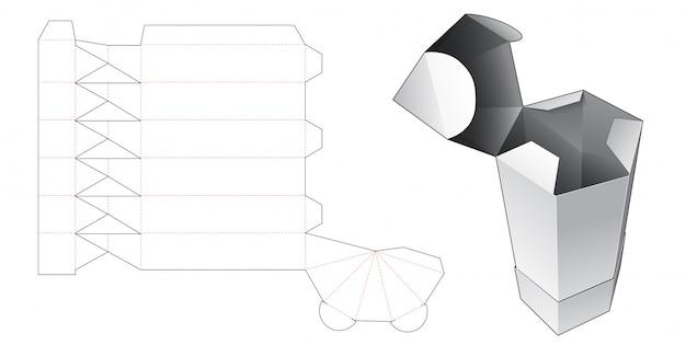 Modello fustellato scatola a forma di matita