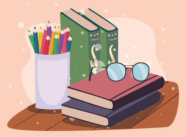 Portamatite e libri di testo