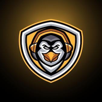 Modelli di logo penguin esports