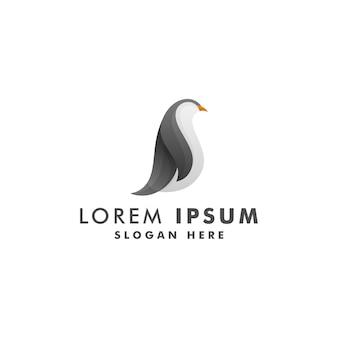 Pinguino logo design, animale icona simbolo illustrazione