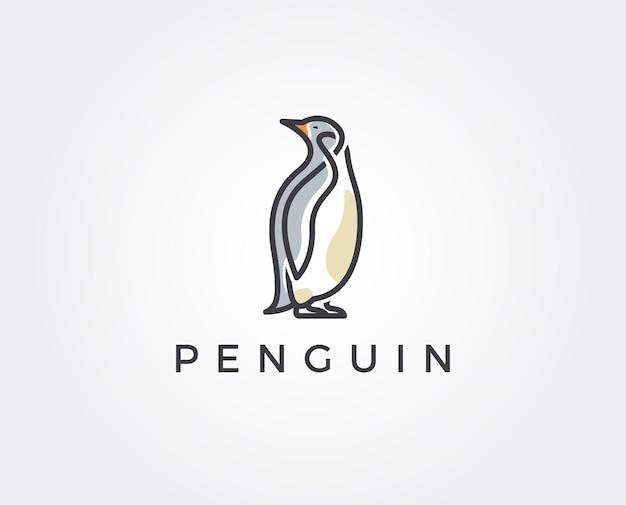Pinguino logo design template vettoriale