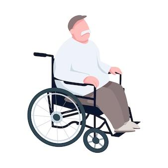 Pensionato in sedia a rotelle