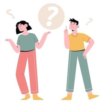 Persone che fanno domande