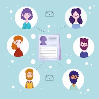 Comunicazione avatar persone