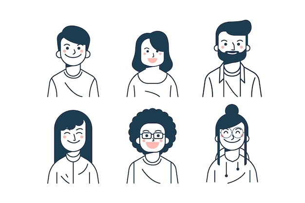 Pacchetto avatar persone