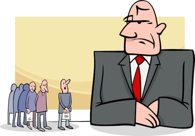 Persone alla banca illustrazione dei cartoni animati