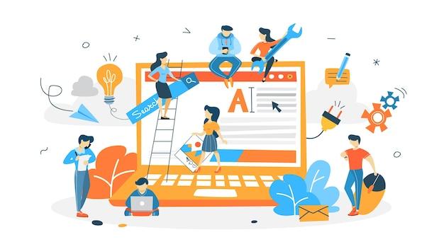 Persone che costruiscono sito web