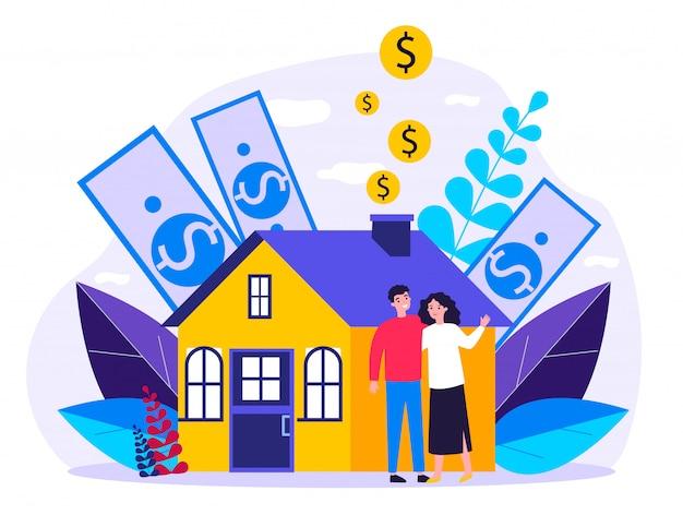Persone che acquistano proprietà con credito bancario