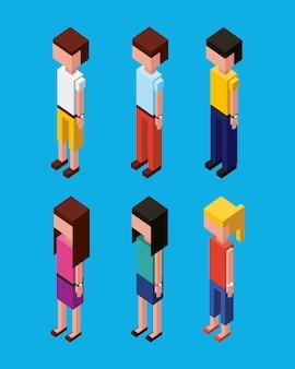 Persone personaggio avatar isometrica