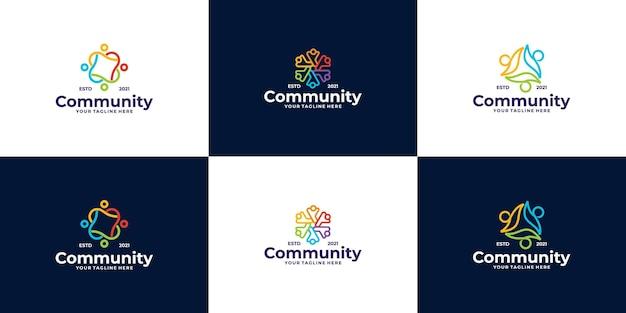 Persone e comunità logo design per squadre o gruppi
