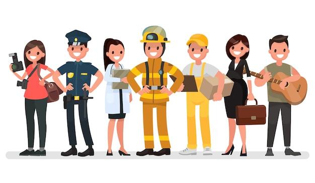 Persone di diverse professioni. festa dei lavoratori.
