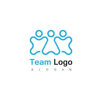 Modello di logo della famiglia e della squadra di persone