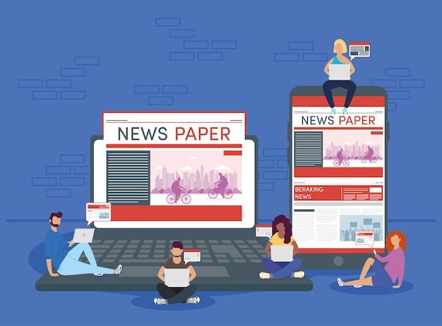 Notizie online di persone e gadget