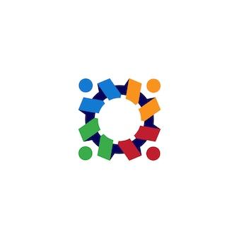 Illustrazione dell'icona di logo dei denti dei denti dell'ingranaggio della gente