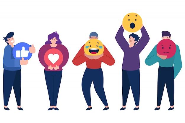 Le persone in possesso di emoticon
