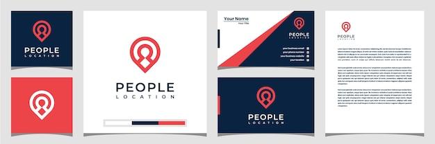Modelli di logo della posizione delle persone biglietto da visita e carta intestata con logomodelli di logo della posizione delle persone biglietto da visita e carta intestata del logo