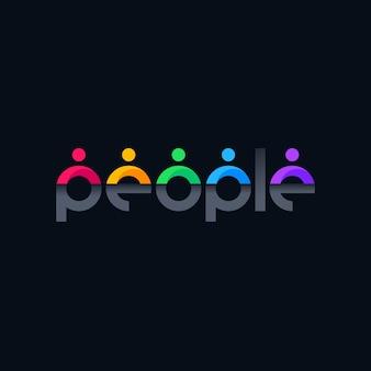 Design del logo di persone con lettere