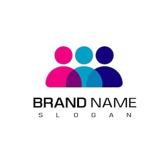 Simbolo del lavoro di squadra del logo della gente
