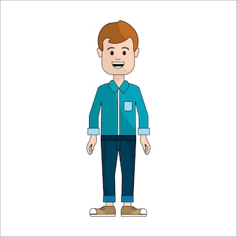 Persone, uomo con icona avatar panno casual