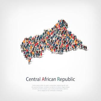 Persone mappa paese repubblica africana