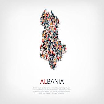 La gente mappa paese albania