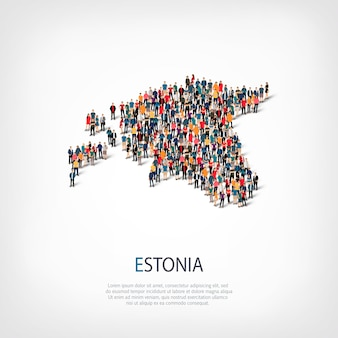 La gente mappa paese estonia