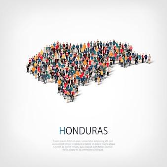 La gente mappa paese honduras