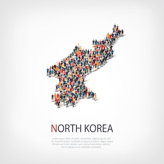 La gente mappa paese corea del nord