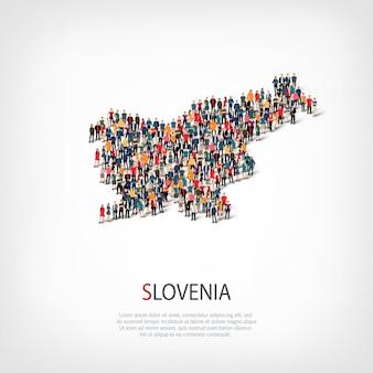 La gente mappa paese slovenia