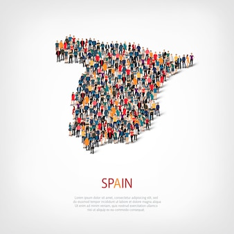 Persone mappa paese spagna