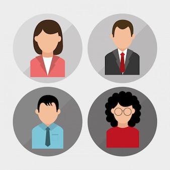 Disegno del profilo delle persone