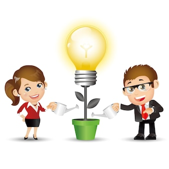 Set di persone - affari - uomini d'affari. nuove idee brillanti