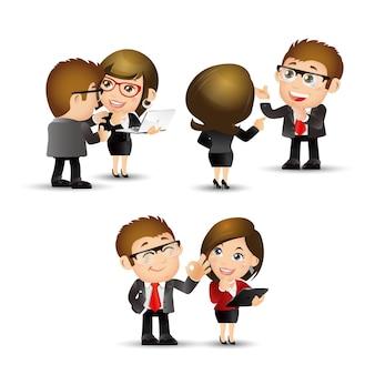Set di persone - affari - discutere