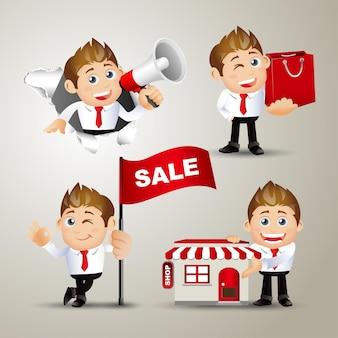 Set di persone - business - vendita