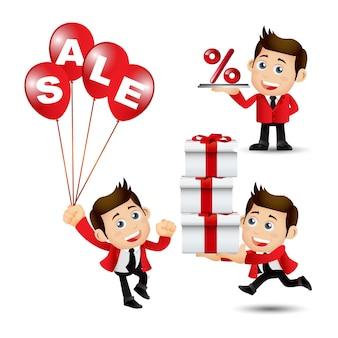 Le persone impostano la vendita aziendale