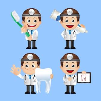Persone impostate. dentista