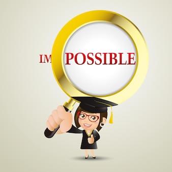 Persone impostate istruzione studentessa laureata donna è possibile