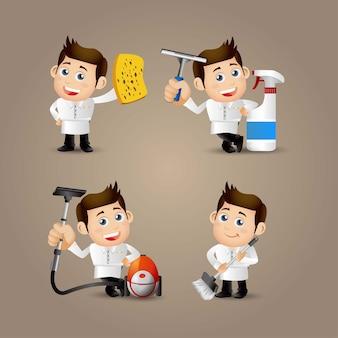 Le persone impostano la professione più pulita