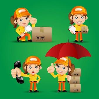 Set di persone - professione - set di consegna persona