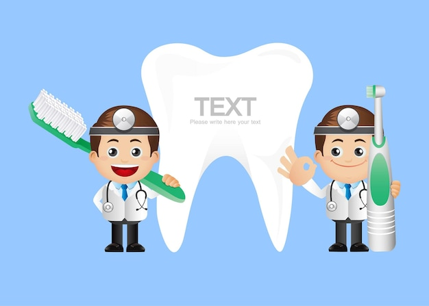 Persone impostate professione dentista