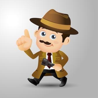 Le persone impostano la professione detective