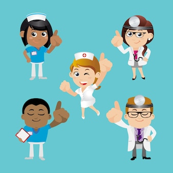 Set di persone set di professioni da dottore