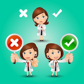 Le persone impostano la professione di dottore