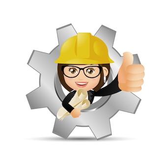 Persone impostate professione ingegnere